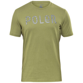 POLER Furry Font - T-shirt manches courtes Homme - olive